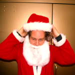 Santas in NYC 1998 - Santa Chad Mulligan - photo Harrod Blank