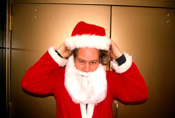 Santas in NYC 1998 - Santa Chad Mulligan - photo Harrod Blank