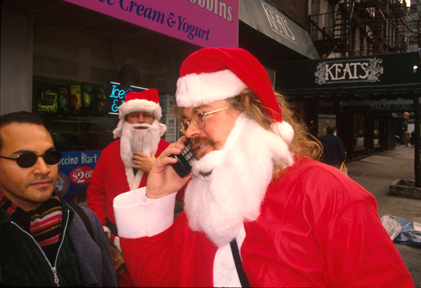 Santas in NYC - Santa Ron English - photo Harrod Blank