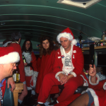 Santas NYC - Santa Squid, Scott Beale on bus - photo Harrod Blank
