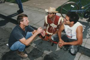 Chicken John Rinaldi, Chris Campbell Kal Spellitech at the 1st Meat Parade, Berkeley CA, October 1996