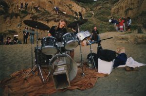 Dean Gustafsen the (only) drummer at the last Burning Man at Baker Beach June 1990 & the (only) drummer at the Cacophony Zone Trip #4 (1st BM on the Black Rock Desert Sept. 1990)