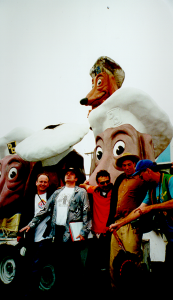 Doggie Diner with (from left to right) Scott Beale, Philo Northrup, John Law, Harrod Blank and Rev. Chuck Linville