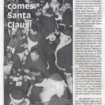 "1st SantaCon, December 1994 - ""Here comes Santa Claus"" from Stuart Mangrums zine Twisted Times"