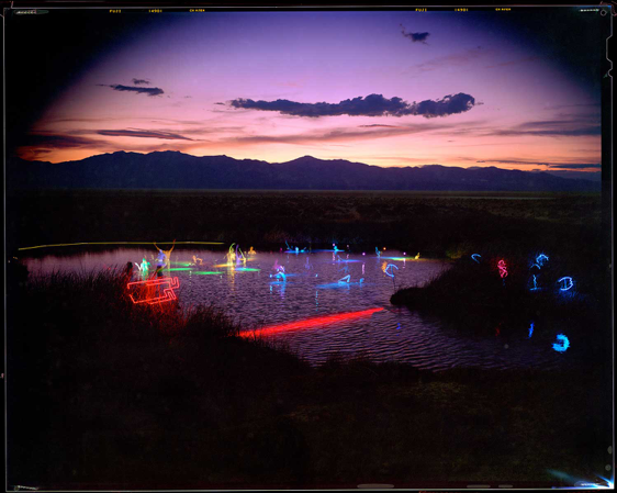 Black Rock Spring with Water Sprites - Water + Night, © William Binzen